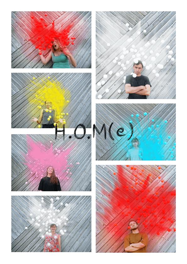 composition des différents comédiens de H.O.M(e)